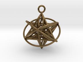 Pendant_Orbital-Merkaba in Natural Bronze