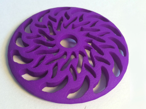 Drop Spindle Whorl--Braided in Purple Processed Versatile Plastic
