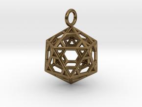 Pendant_Hexagonal-Icosahedron in Natural Bronze