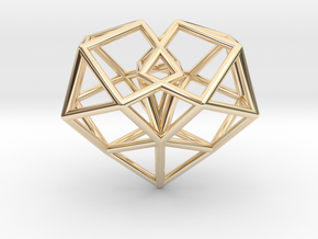 Pendant_Cuboctahedron-Heart in 14K Yellow Gold