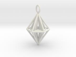 Pendant_Tripyramid in White Natural Versatile Plastic