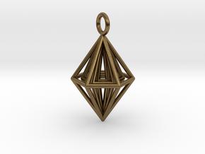 Pendant_Tripyramid in Natural Bronze