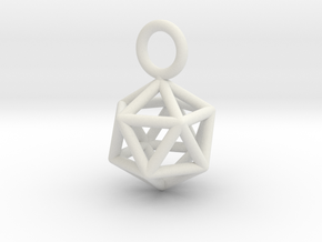 Pendant_Icosahedron-Small in White Natural Versatile Plastic