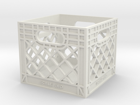 Milk Crate 1:10 Scale in White Premium Strong & Flexible