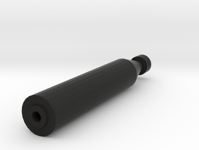 Quickshot Airsoft Silencer (14mm Self-Cutting) in Black Natural Versatile Plastic
