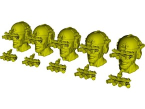 1/48 scale SOCOM operator B heads & NVG x 10 combo in Smoothest Fine Detail Plastic