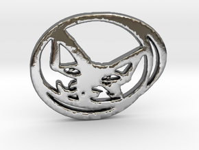 Artful Cat in Polished Silver
