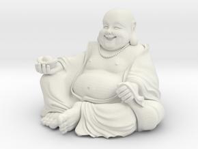 Maitreya Buddha in White Natural Versatile Plastic