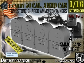 1/16 Tombstone Cal 50 Ammo Can Set001 in Smooth Fine Detail Plastic