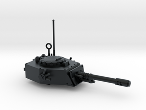 28mm APC turret with autocannon in Black Hi-Def Acrylate