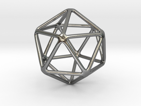 Icosahedron in Polished Silver