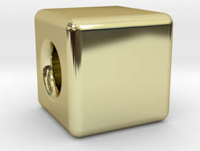 Financial Freedom Cube Bead in 18k Gold