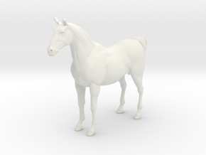 Printle Thing Horse - 1/64 in White Natural Versatile Plastic