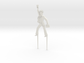 "BK-11: ""Liberty Fever Cake Figurine"" by Cárdenas in White Natural Versatile Plastic"