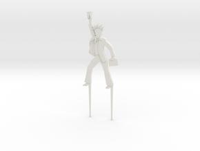 "BK-11: ""Liberty Fever Cake Figurine"" by Cárdenas in White Natural Versatile Plastic"