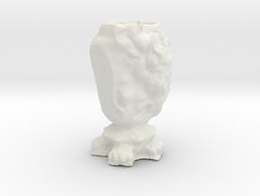"""BK-17: """"Garden Urn for East Flatbush"""" by Talbot &  in White Natural Versatile Plastic"""
