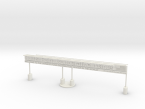 "BX-02: ""Hunts Point/South Bronx Gateway"" by Miguel in White Natural Versatile Plastic"