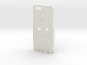 iPhone 6/6S Deadpool Case in White Natural Versatile Plastic
