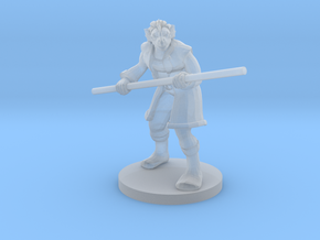 Dragonborn male Monk with Staff in Smooth Fine Detail Plastic