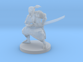 Samurai with Crossbow on back in Frosted Ultra Detail