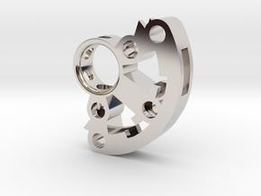 Crystal Holder  with set screw in Platinum