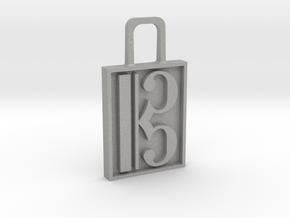 Alto Clef Zipper Pull Version 2 in Aluminum