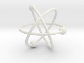 Atom in White Premium Versatile Plastic