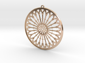Pendant Siena in 14k Rose Gold Plated