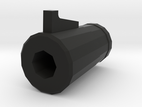 "TF2 ""Classic"" Sniper Rifle Airsoft Muzzle (14mm Se in Black Natural Versatile Plastic"