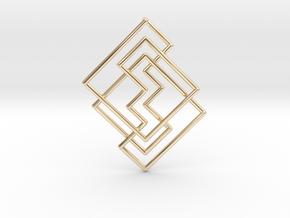 Cobweb Pendant in 14k Gold Plated Brass: Medium