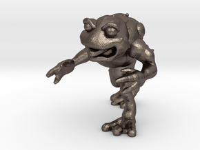 Unemployed Mutant Frog in Polished Bronzed Silver Steel: Extra Small