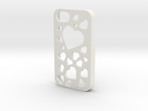 iPhone 4/4S Hearts Case in White Natural Versatile Plastic