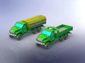 Russian GAZ Ural Next Truck 1/160 N-Scale in Smooth Fine Detail Plastic