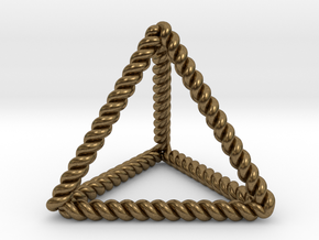 "Twisted Tetrahedron 1.4+"" RH in Natural Bronze"
