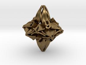 Floral Dice – D10 Gaming die in Natural Bronze