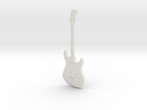 Stratocaster Guitar Pendant in White Natural Versatile Plastic
