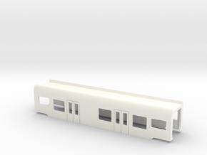 Flirt Mittelwagen mit WC Scale TT in White Processed Versatile Plastic