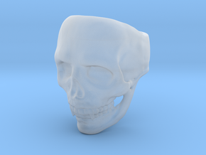 Big Bad Skull Ring in Smooth Fine Detail Plastic