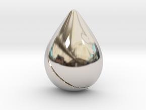 Pokemon Kanto Cascade Badge in Rhodium Plated Brass
