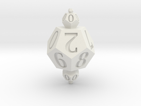Merged Dice in White Premium Strong & Flexible: d00