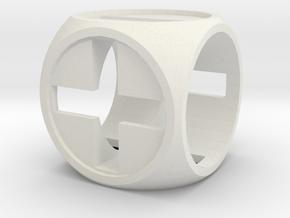 """Fudge Zero"" Dice Set (4dF) in White Premium Strong & Flexible: d6"