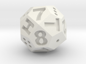 Multi-Die d2/4/8 in White Premium Strong & Flexible