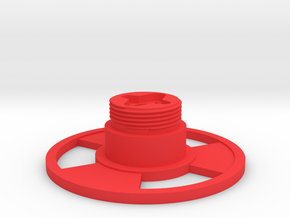 Control grip display base in Red Processed Versatile Plastic