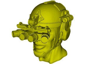 1/16 scale SOCOM operator B helmet & head x 1 in Smooth Fine Detail Plastic