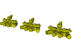 1/24 scale SOCOM NVG-18 night vision goggles x 3 in Smooth Fine Detail Plastic