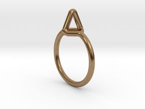Summit Ring S.02, US size 7.5, d=17,5mm  in Natural Brass: 7.5 / 55.5