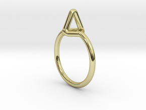 Summit Ring S.02, US size 7.5, d=17,5mm  in 18k Gold Plated Brass: 7.5 / 55.5