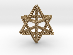 "Star Twistahedron 1.6+"" in Polished Gold Steel"