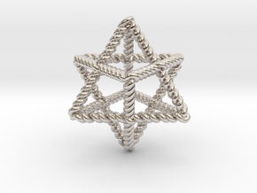 "Star Twistahedron 1.6"" in Platinum"