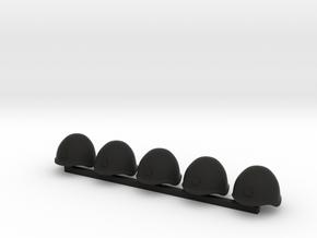 5 x Russian Helmets in Black Premium Versatile Plastic